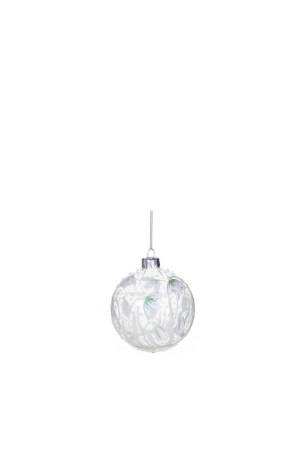 Snowdrops Glass Bauble 50% OFF