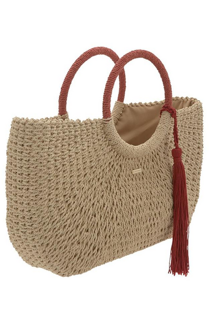 Sorrento Woven Bag Natural