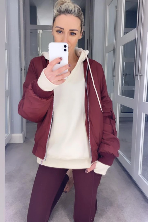 City Girl bomber jacket in current