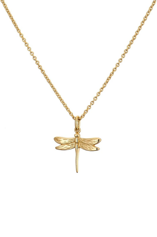 Gold Dragonfly Necklace