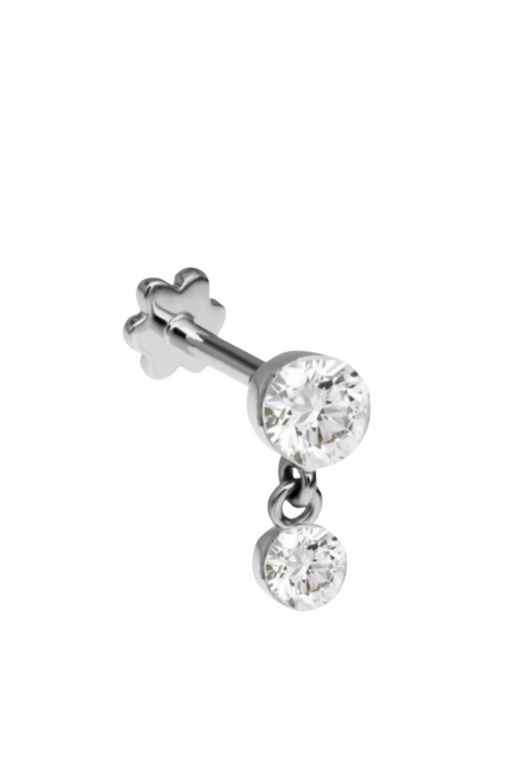 Diamond Thread Earring
