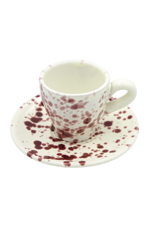 Cranberry Espresso Cup and Saucer 20% OFF