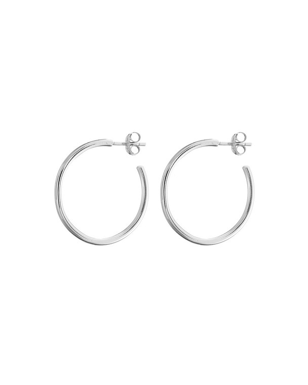 Silver Classic Hoops