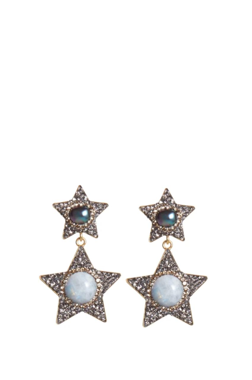 Moonstar & Pearl Earrings