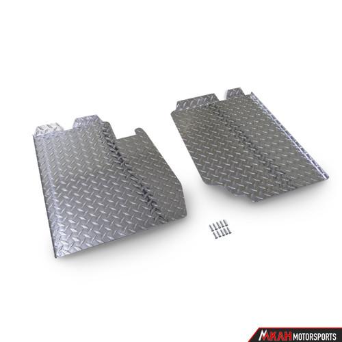 E30 Diamond Plate Floor Pans - Aluminum or Black