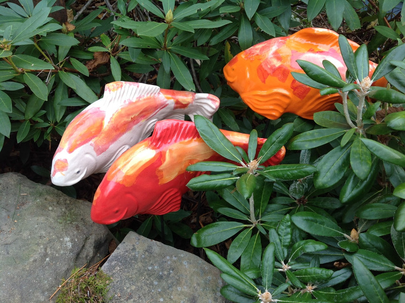 Koi Garden art garden sculpture