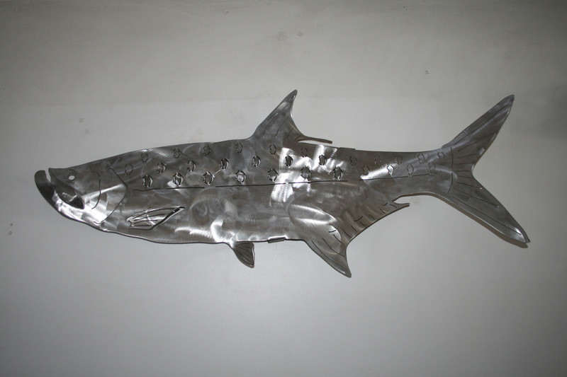 "36"" Stainless Steel Tarpon Metal sculpture for walls"