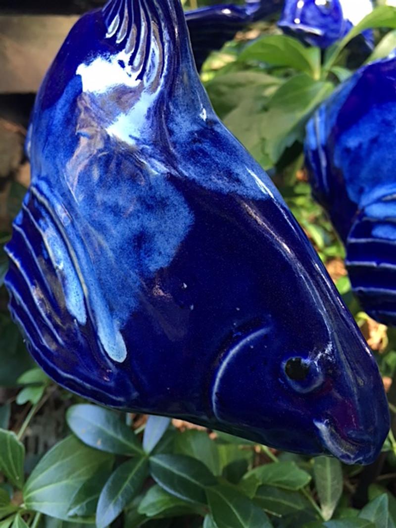 Small Koi - cobalt blue