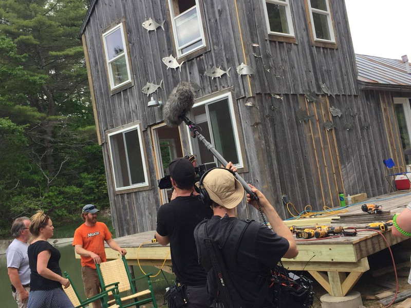 Film Set of Maine Cabin Masters.