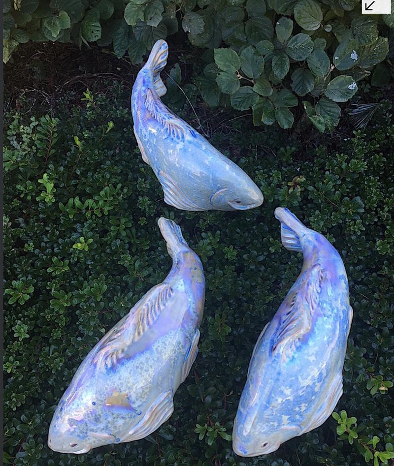 Set of 3 New Blue Crystal Koi - FREE SHIPPING