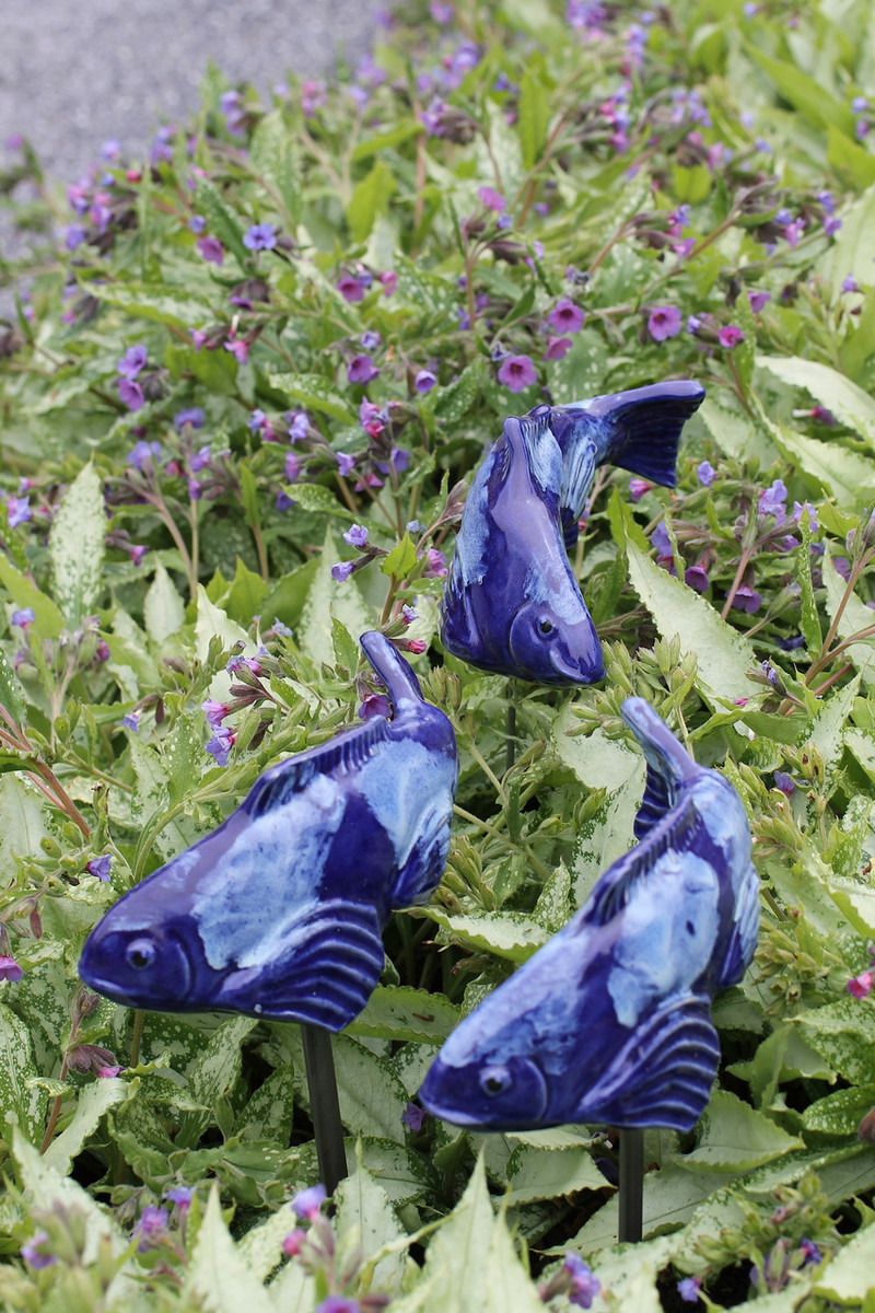 Set of 3 Small Cobalt Koi