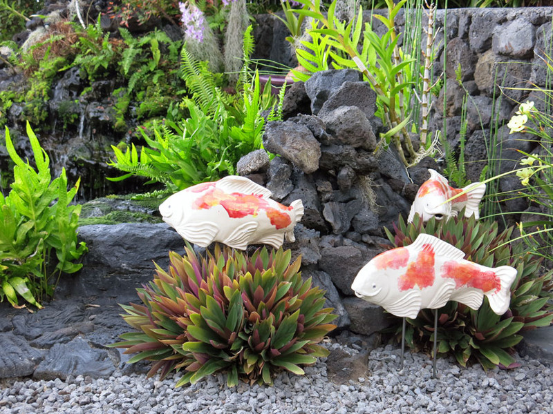 Koi garden art