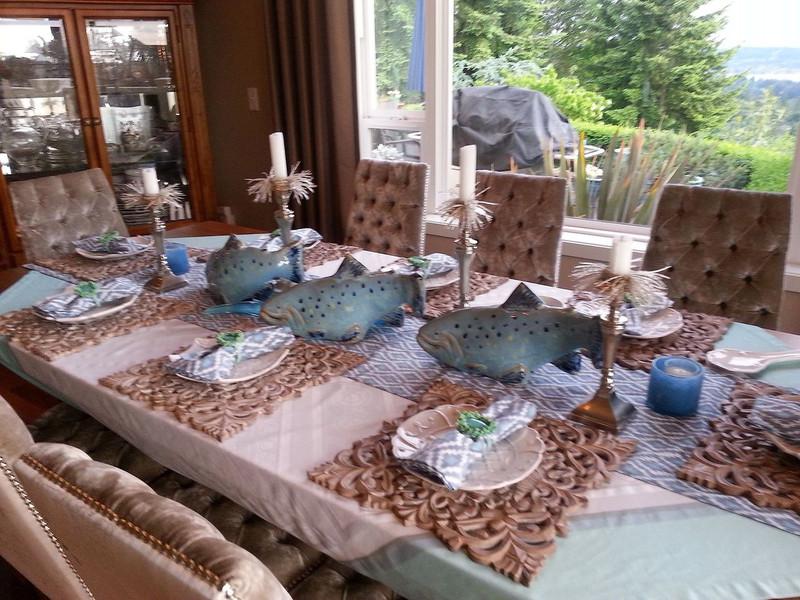 Indigo Trout  Garden Art (sold individually)