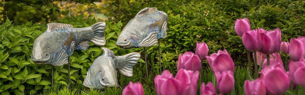 Shop Ceramic Fish Fish Garden Sculptures Buy Fish Garden Art