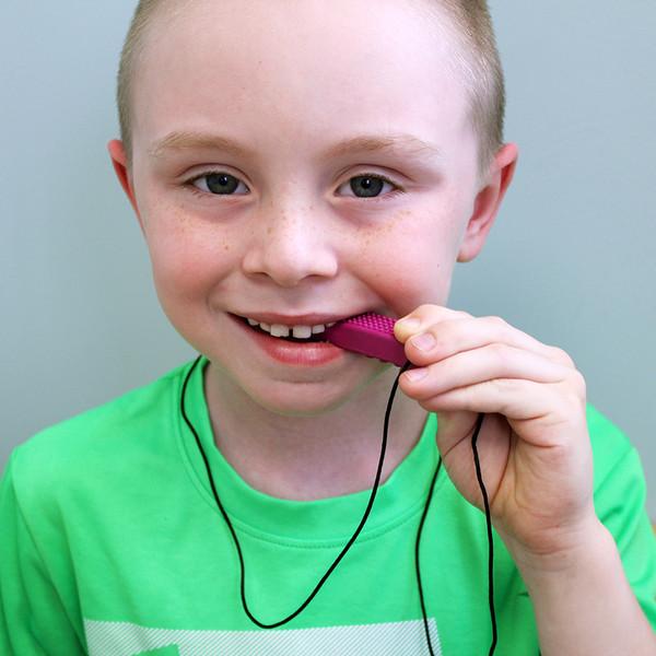 Ark/'s Brick Stick Chewable Necklace Sensory Special Needs Chewy Orange