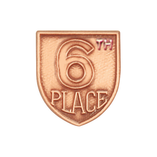 Medal Insert - 6th Place (Bronze)