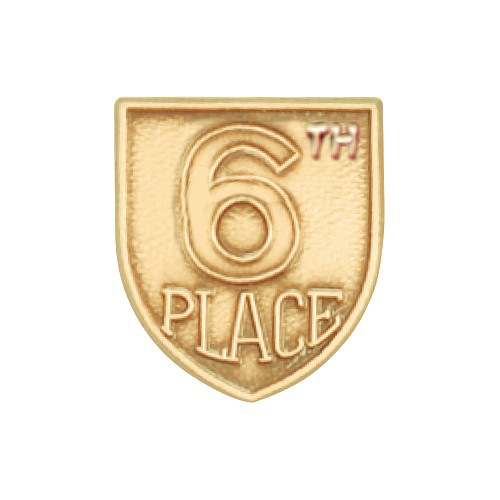 Medal Insert - 6th Place (Gold)