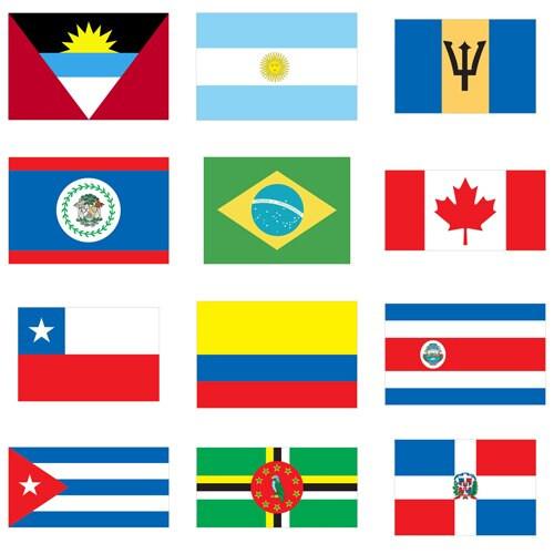 Flags of World Nations Outdoor Display (Latvia-Zimbabwe)