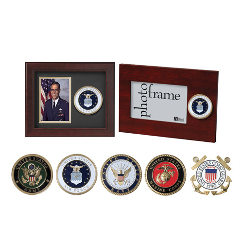 Armed Forces Medallion Picture Frames