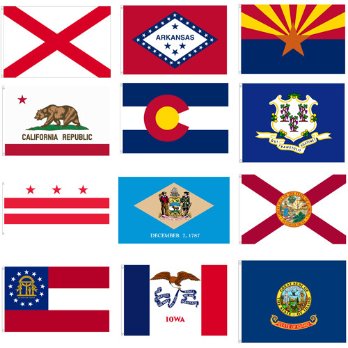 State and Territorial Flags: Indoor/Parade Use, Nylon