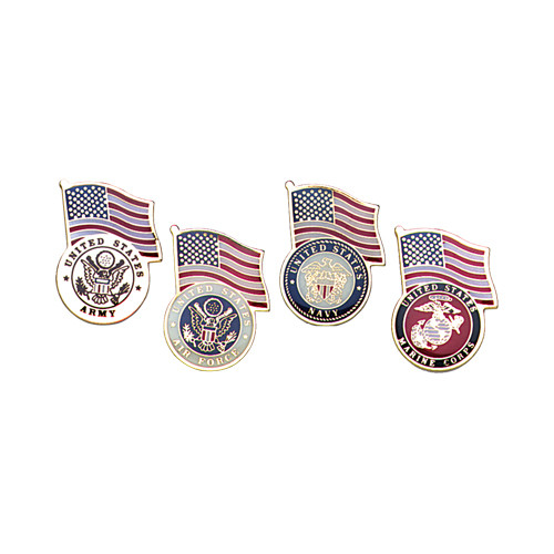 Armed Forces Pins with US Flags