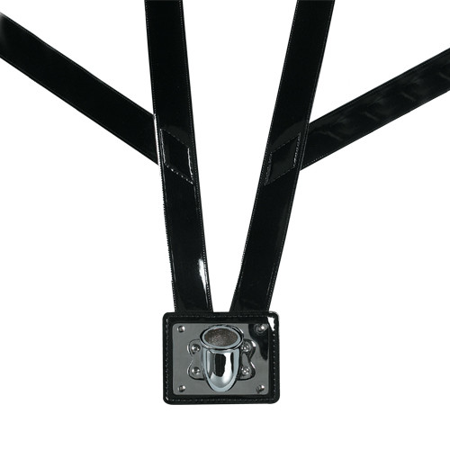 Honor Guard Leather Flag Carrier: Double Harness