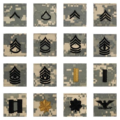 Army Combat Uniform (ACU) Rank