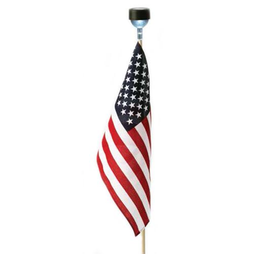 Solar Lighted US Flag Unit
