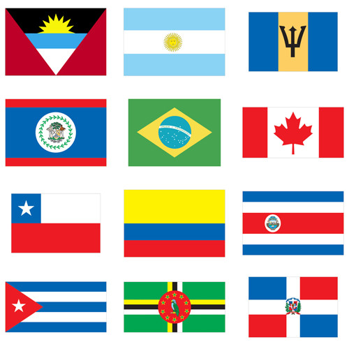 Flags of World Nations Outdoor Display