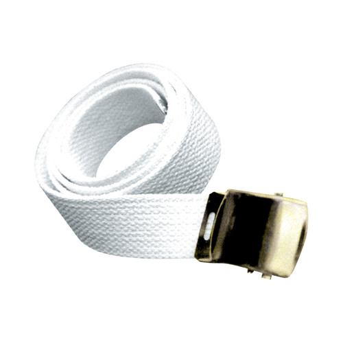 Cotton Web Waist Belts: White, Black, Navy, Royal, Red, Buff (includes buckle)