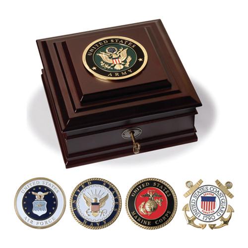 Armed Forces Medallion Desktop Boxes