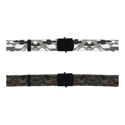 Cotton Web Waist Belts: Camo Colors (includes buckle)