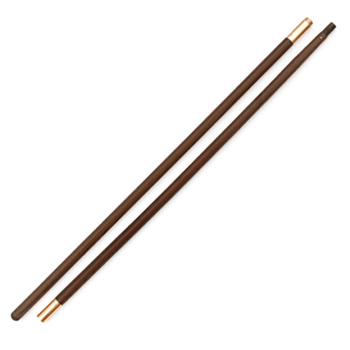 Two Piece Polished Wood Poles