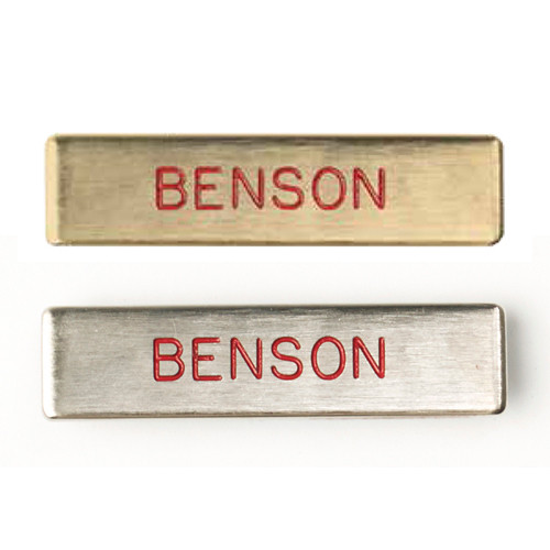 Firefighter Metal Nameplates With Red Letters