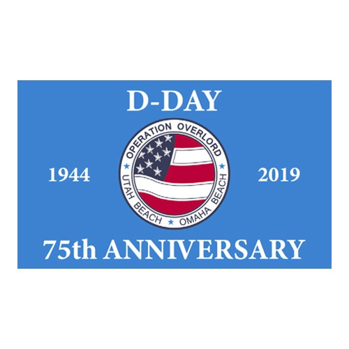 D-Day 75th Anniversary Flag