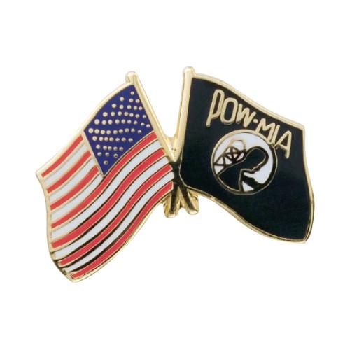 US/POW-MIA Flags Pin