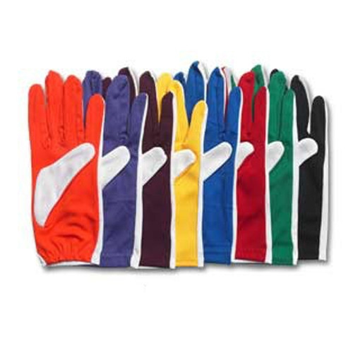 """Two-color Stretch Poly Gloves 9"""" Slip On"""