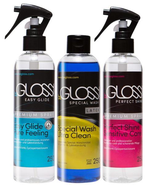 BeGloss Perfect Shine Spray 250ml Easy Glide Spray 250ml Special Wash 250ml