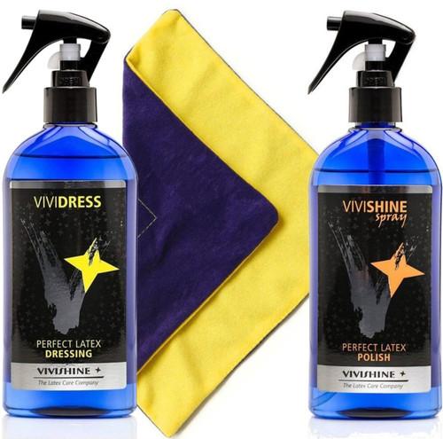 Vivishine Spray 250ml and Vividress Spray 250ml Viviwipe