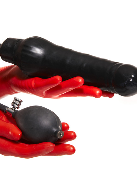 Latex Dildo Semi Hard Center