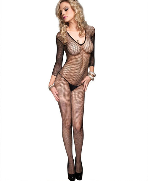 Bodystocking Fishnet Long Sleeved