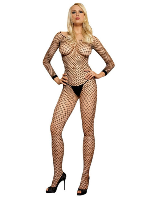 Bodystocking Industrial Net Lycra Long Sleeved