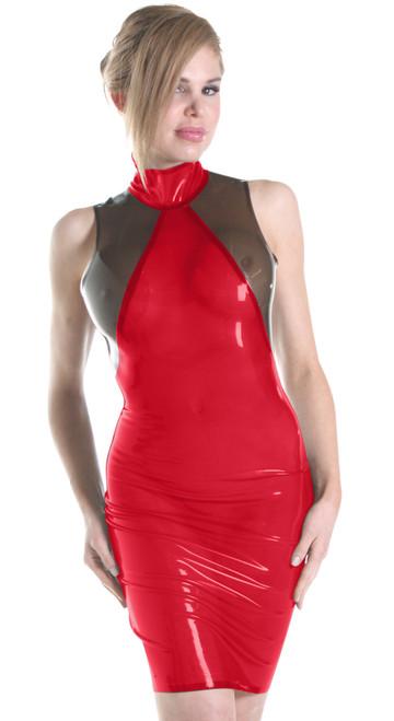 Anya Dress Extra Large Metallic Black Trans Pink
