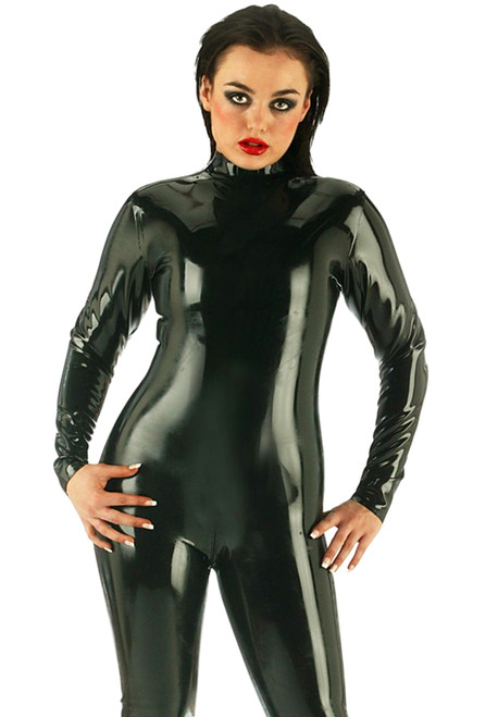 Catsuit Thru Zip Back Small Black