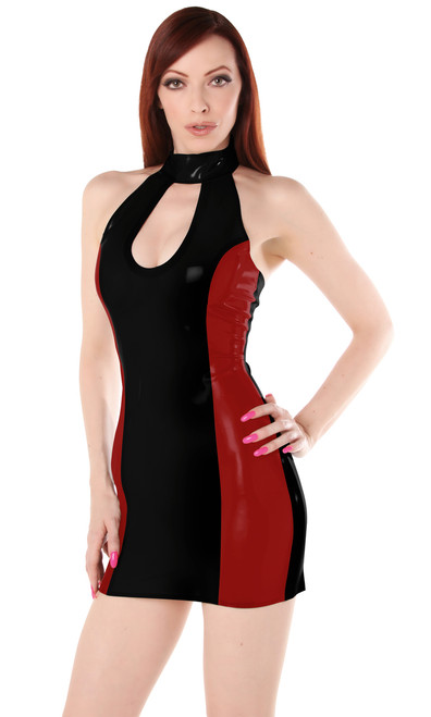 Cindie Dress Small Trans Blue Black