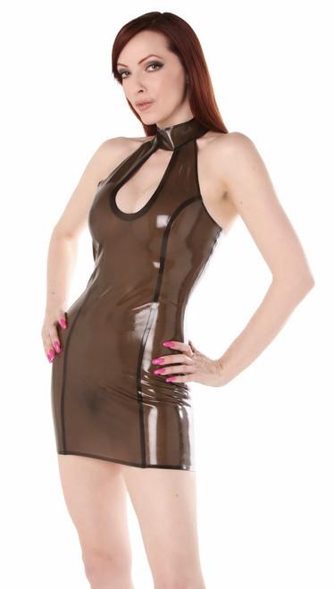 Key Hole Halter Dress Extra Large Black