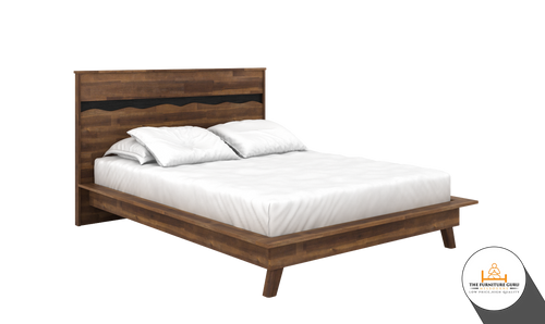 BED FRAME WITH BASE ( CALLA RAINAOAK )