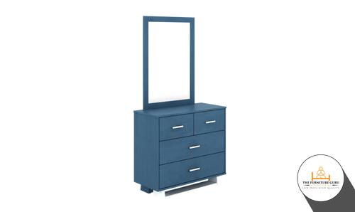 DRESSER WITH MIRROR (OCEAN BLUE)