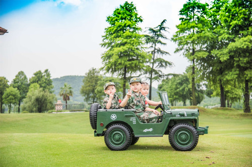 3 Seater Army Green Style Jeep