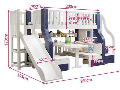 Smart Multifunction Bunk Bed White FREE BONUS MATTRESS